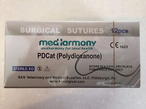 4 Boxes Of Veterinary Suture Pdo 4 0 45cm 22mm 3 8 Rev Cutting 12 bx Pdcat