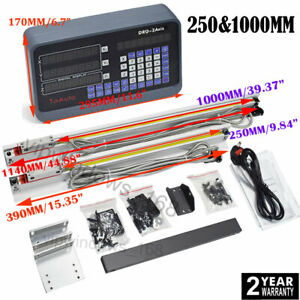 2 Axis Milling Digital Readout Dro Linear Scale 250 1000mm 5 m Encoder Cnc Kit
