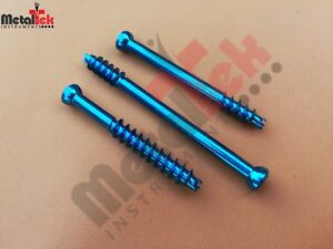 Cannulated Screw 3 0mm Short Threaded Titanium self Tapping Self Drilling 35 Pcs