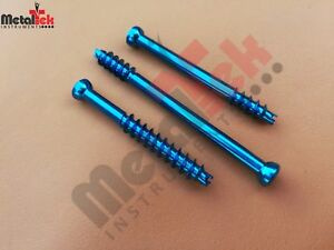 3 5mm Cannulated Screw Short Threaded Titanium self Tapping Self Drilling 35 Pcs