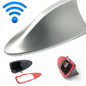 Silver Universal Car Suv Roof Radio Am Fm Signal Shark Fin Aerial Antenna Cover