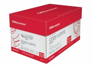 Office Depot Brand Letter size Copy And Print Paper 20 Lb Case Of 10 Reams