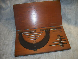 Micrometer Set Vintage Brown Sharpe 001 2 6 Micrometer Set Steel Faces