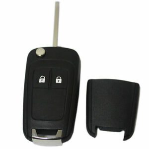 2 Btn Flip Reomote Key Case Fob For Vauxhall Opel Astra Insignia