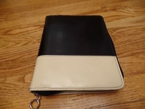 Franklin Covey Planner Zip Binder Black ivory Classic 1 5 Rings Black