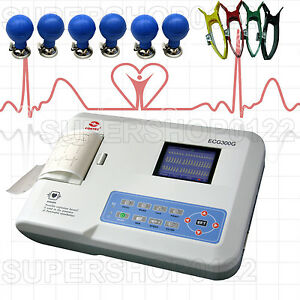 Usa Store 3 Channel 12 Lead Ecg Ekg Machine usb Pc Software Electrocardiograph