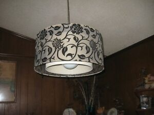 Mid Century Modern Style Round Drum Ceiling Light Fixture Reduced