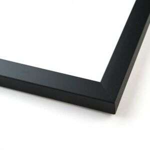 13x42 Black Wood Picture Frame With Acrylic Front And Foam Board Backing