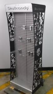 Retail Merchandise Metal Display Rack Skull Candy Double Sided With 22 Hooks