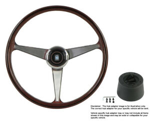 Nardi Steering Wheel Anni 60 380 Mm Wood With Hub For Mg Mgb 1968 To 1969