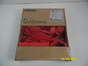New Ikea Fredrik Above Desk Clip On Straps Red Pencil Supplies Organizer