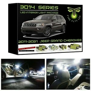 15 White Led Interior Lights Package Kit For 2011 2019 Jeep Grand Cherokee 3014