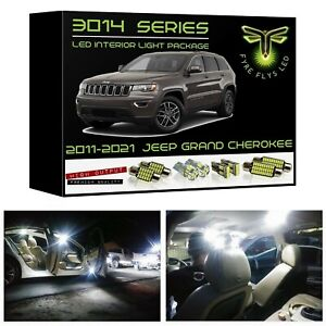 15 White Led Interior Lights Package Kit For 2011 2020 Jeep Grand Cherokee 3014
