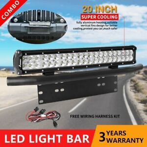20 126w Cree Led Work Light Bar Combo 23 License Plate Mount Bracket wire
