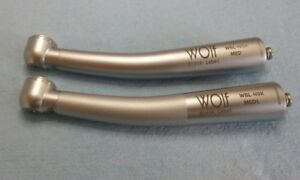 German Wolf High Speed Dental Handpieces With Fiber Optics And 90 Day Warranty
