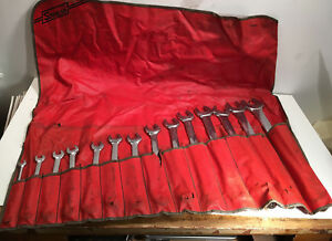 Snap On 14 Piece Sae Wrench Set 3 8 1 1 4 Flank Drive Large Set In Bag