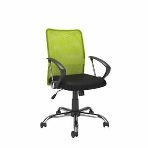 Atlin Designs Contoured Mesh Back Office Chair In Lime Green