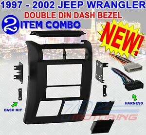 Jeep Wrangler Tj 1997 2002 Double Din Dash Bezel Radio Stereo Mounting Kit