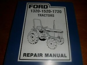 Original Ford 1320 1520 1720 Tractors Service Manual In Binder 40132030 Se4602