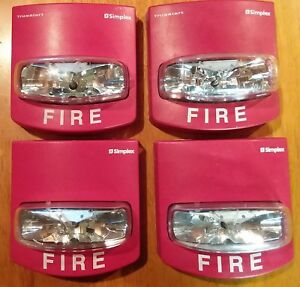 Lot Of 10 Used Simplex Wall Mount Fire Alarm Strobe Red