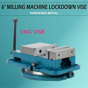 Hardened 6 Milling Machine Vise Lockdown Bench Clamp Clamping Worktable Accu