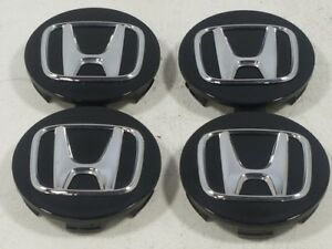 2015 Honda Civic Set 4 Black Center Caps 44742 Oem