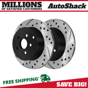 Rear Drilled Slotted Brake Rotors Pair 2 For 05 07 08 2009 2010 Scion Tc 96933