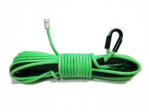 Synthetic Winch Rope Line Cable Neon Green 5 16 X 45 20000 Lb With Rock Guard