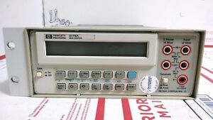 Hewlett Packard Hp Agilent Multimeter 3478a