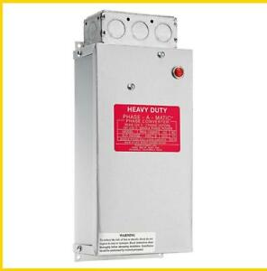 Pam 1200hd 8 12 Hp 220 Vac Phase a matic Phase Converter