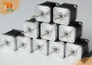 usa Ship 10pcs Nema17 12v 0 4a 2800g cm 34mm Wantai Stepper Motor 3d Printer
