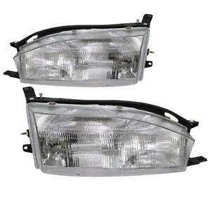 Fits 1992 1994 Toyota Camry Usa Built New Headlights Set Headlamps Pair