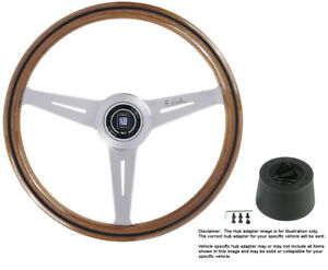 Nardi Steering Wheel Classic 360 Wood With Hub For Ford Mustang 1968 To 1971