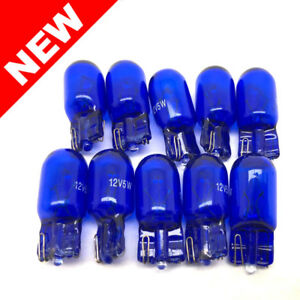 10x 194 Blue T10 Bright Light Bulb Lot 12v5w 158 192 168