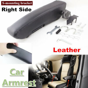 1x Universal Suv Armrest Console Box Car Seat Arm Rest Right Side S Bracket
