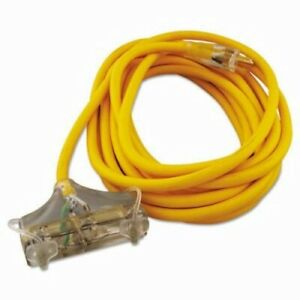 Cci Polar solar Outdoor Extension Cord 25 Ft Three Outlets Yellow coc03487