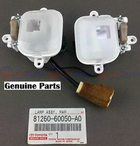 Genuine Toyota Landcruiser 100 Series Lexus Lx470 Interior Dome Map Front Lights