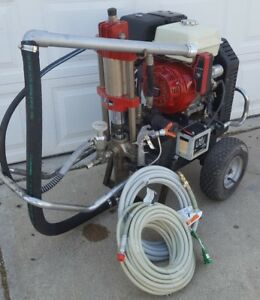 Titan speeflo Hydra M4000 Hydraulic Gas Airless Paint Sprayer roof Rig