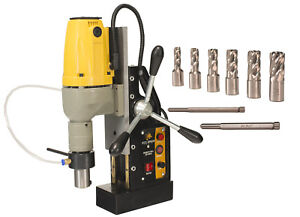 Steel Dragon Tools Md40 Magnetic Drill Press With 7pc 1 Small Hss Cutter Kit