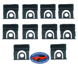45 90 Gm Front Windshield Rear Window Reveal Moulding Molding Trim Clips 10pc Ss