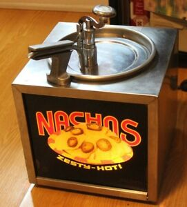 Gold Medal Lighted Nacho Cheese Dispenser Hot Fudge Warmer Pump Chocolate