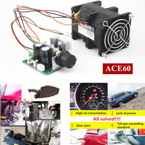 12v Electric Turbine Supercharger Boost Intake Fan Ace60 3 2a With Potentiometer