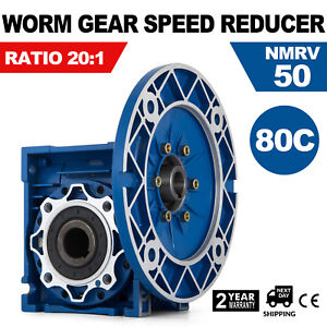 Mrv050 Worm Gear 20 1 80c Speed Reducer Motor Universal 1750rpm Ce Approved
