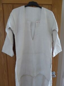 Antique Vintage French Heavy Linen Hemp Workers Tunic