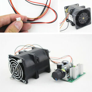 1x Car Double Fan Electric Turbine Turbo Charger Boost Potentiometer 3 2a Dc12v