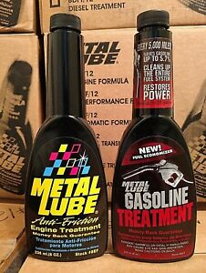 Metal Lube Anti Friction Engine Gasoline Treatment Bundle