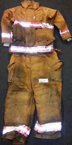 Firefighter Set Jacket 44x30 Pants 42x28 Bunker Turn Out Gear Securitex S7