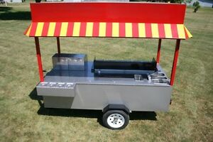 Hot Dog Burger Stand With Grill