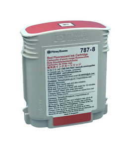 Genuine Pitney Bowes Red Ink Cartridge 787 8 Free Shipping