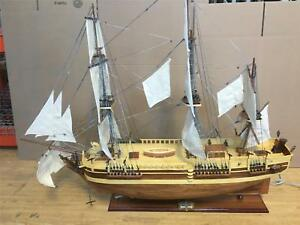 Hms Bounty Wooden Model Tall Ship Large Scaled 39 Sail Boat New Fully Assembled